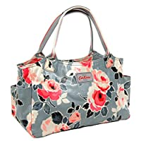 Cath Kidston Paper Rose Medium Oilcloth Zip Shoulder Day Tote Bag