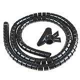 VulTech SN21505 Spirale Avvolgi Cavo Flessibile, 1.5 m, Nero