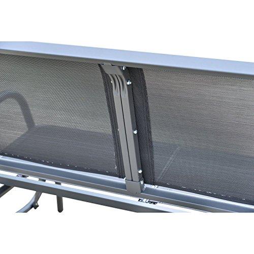 Outsunny Sitzbank, Metall, grau, 123 x 70 x 87 cm, 01-0893 - 7