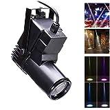 LED Pinspot Luce,UKing Luci palcoscenici a LED Luci da 10W RGBW Faretti DMX512 Modalità audio automatiche Effetto luce per Home Party Show Club Disco (1 pezzo)