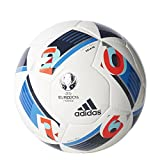 adidas Herren Ball EURO 2016 Sala 65, White/Bright Blue/Night Indigo, FUTS, AC5432