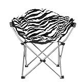 Estexo Gepolsterter Camping-Klappstuhl XXL (Zebra-Design)
