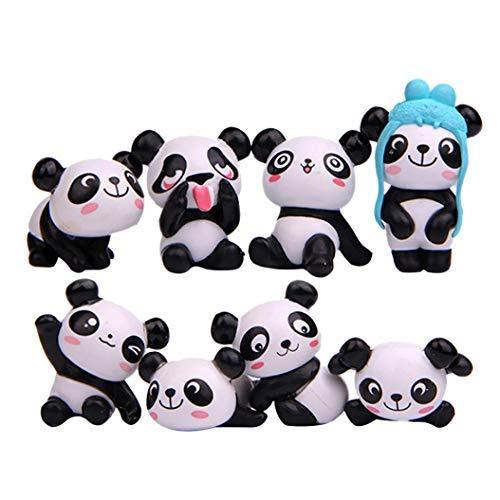 Potatogirl 8pcs Cartoon - süßen Panda Magnet kühlschrank Aufkleber - Heimwerker - dekor Wand Aufkleber - Wand malereien - Peel & Stick wandtattoo fit Wohnzimmer Kinder Zimmer (schwarz)