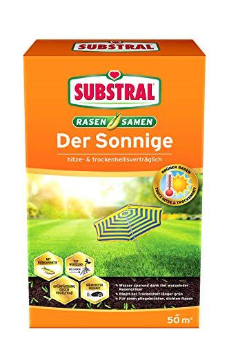 Substral Rasensamen Der Sonnige, Trockenrasen, Hochwertige Rasensamenmischung für sonnige und trockene Standorte, 1,125 kg Faltschachtel