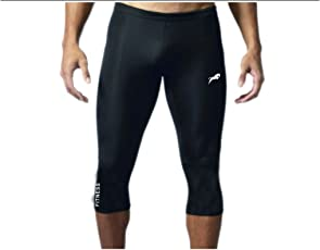 Rider 3/4 Men & Women Unisex Capri Length Compression Tights Fitness & Other Outdoor Inner Wear Multi Sports Cycling, Cricket, Football, Badminton, Gym,