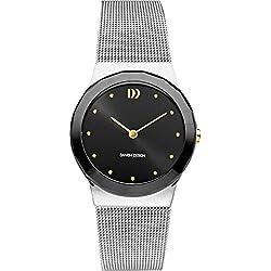 Danish Designs DZ120564 - Reloj de pulsera Mujer, Acero inoxidable, color Plata