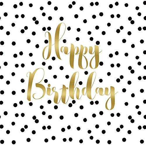 (PPD Birthday Confetti Servietten, 20 Stück, Tischservietten, Tissue, Weiß / Grün, 33 x 33 cm, 1332430)