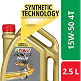 Castrol POWER1 Cruise 4T 15W-50 API SN Synthetic Engine Oil for Bikes (2.5L)