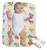Tappetino per neonati in PVC Pulisci e pulisci il pannolino riutilizzabile portatile Cambia il viaggio impermeabile per i bambini delle ragazze Pieghevole pad