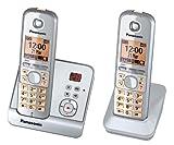 Panasonic KX-TG6722GS Duo Schnurlostelefon (4,6 cm (1,8 Zoll) Display, Smart-Taste, Freisprechen, Anrufbeantworter) perlsilber