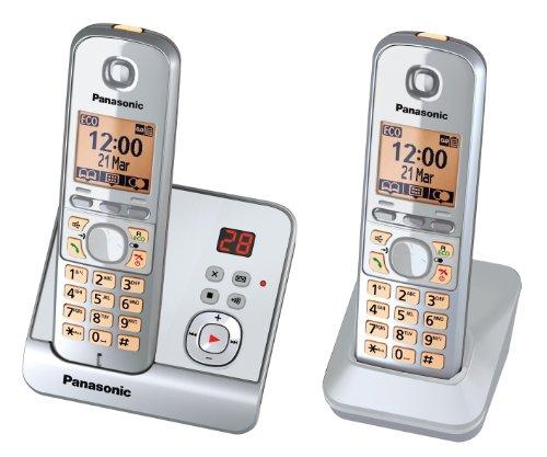 Panasonic KX-TG6722GS Duo Schnurlostelefon (4,6 cm (1,8