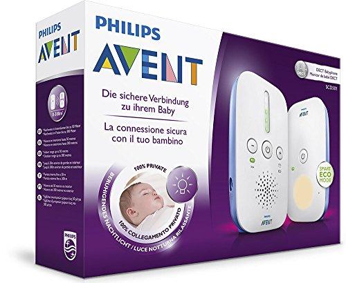 Philips Avent SCD501/00 DECT Babyphone, weiß/blau - 7