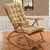 BCXiu Coussins de chaise à bascule, coussin de banc matelassé épaissir coussin de canapé meubles de patio intérieur extérieur chaise de pliage en rotin salon-gris 48X120Cm (19X47Inch),Beige,48 * 120c