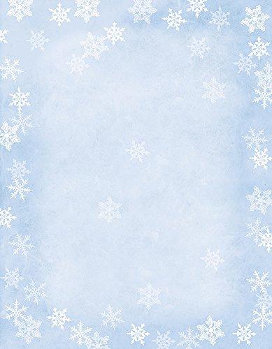 Hortense b hewitt 80-pack fogli inverno fiocchi di carta decorativa