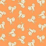 Fat Quarter Makower–Urlaub–Roller orange
