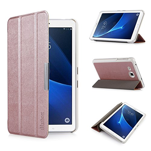 iHarbort Samsung Galaxy Tab A 7.0 Hülle - Ultra Slim Leder Tasche Hülle Etui Schutzhülle Für Samsung Galaxy Tab A 7.0 Zoll T280 T285 Case Cover Holder,(Galaxy Tab A 7.0, Roségold)