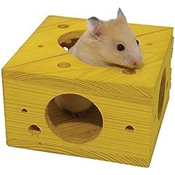 Rosewood Boredom Breaker - Figura de Queso para Actividades de Animales pequeños