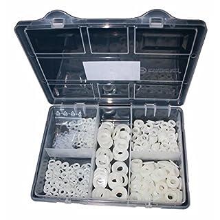 Sortiment Unterlegscheiben DIN 125 Polyamid Kunststoff 550 Teile M3, M4, M5, M6, M8, M10