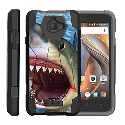 turtlearmor | Coolpad Fall | 3622 A Fall [Dynamischer Shell] Hybrid Duo Cover Auswirkungen saugfähig Schock Silikon Combo Hart Shell Ständer Animal Design -, Shark Attack Animal-print Combo