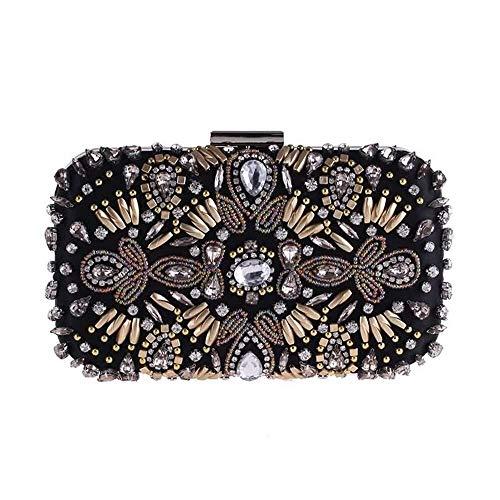 Borsa da sera, pochette di diamanti con strass perline, portafoglio da donna, portafoglio a mano, borsa da sera con temperamento alla moda portafoglio moda