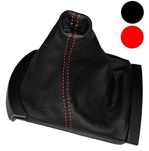 Aerzetix -Schaltsack Schalthebelmanschetten Schalthebelmanschette Schaltbetätigungs Schwarze Farbe 100% Leder roten Nähten