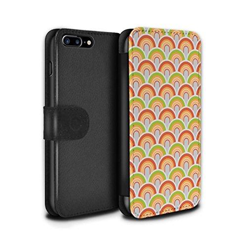 Stuff4 Coque/Etui/Housse Cuir PU Case/Cover pour Apple iPhone 8 Plus / Années 90/1990 Design / Modèle Décennie Collection Années 50/1950