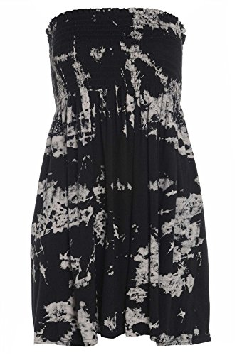 Fashion 4 Less Damen-Kleid Gr. 42-44, Tye Dye (Kleid Dye Tye)