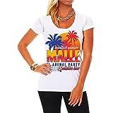 Spaß kostet Frauen und Damen T-Shirt Endlich Wieder Malle (mit Rückendruck) Größe XS - 3XL
