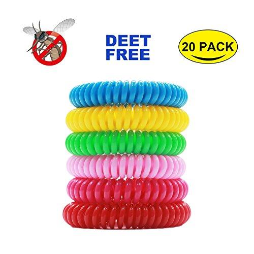 Mückenschutz Armband 6 Füchse Indoor, Outdoor, frei von DEET, 100% wasserdichtes, natürliches Insektenschutzmittel, Armbänder und Bänder, wasserdicht, Handgelenk-/Knöchel Bänder ungiftig Pest Bug-Bänder mit bis zu 200 Stunden Schutz für Kinder und Erwachsene
