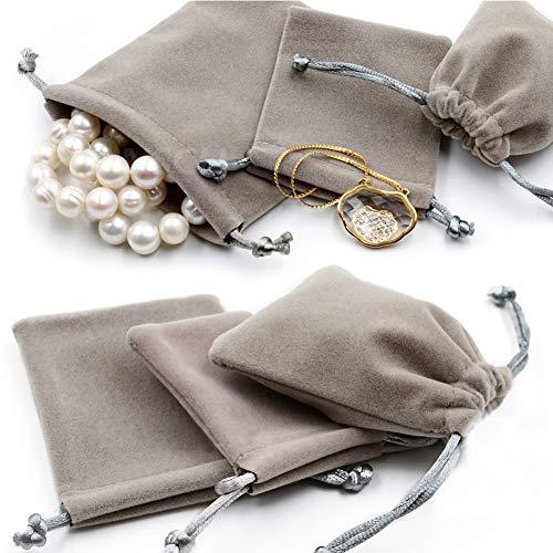 bf0c90dbc71de DAHI Säckchen 24stk Schmuckbeutel aus Samt - Schmucksäckchen  geschenksäckchen Hochzeit Party für Geschenk Taschen Schmuck Beutel