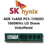 Hynix 4GB (1x 4GB) DDR3 1600MHz (PC3 12800U) LO Dimm Computer PC Desktop Arbeitsspeicher RAM Memory