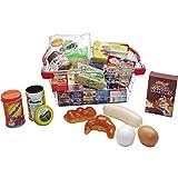 Metallkorb mit Spielpackungen, Eier, Dosen, Nutella: Kaufladen Zubehör Lebensmittel EK Korb Kaufmannladen Spielküche Zubehoer