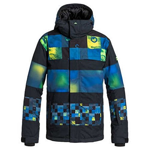 Quiksilver - Giacca da neve da ragazzo Fiction Youth, Ragazzo, Schnee Jacke Fiction Youth, Geco verde