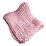 120 * 150CM Handgemachte riesige klobige Wolle stricken Wurf weichen Teppich Sofa Decke handgewebte sperrige Decke Home Bed Lounge Dekor 5 Größen 9 Farbe