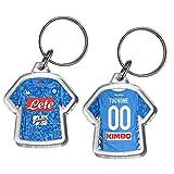 Portachiavi Mini T-Shirt Squadra Calcio Serie A Serie B PORTACHIAVE Gadget in PLEXIGLASS Personalizzato con Nome E Numero (Tipo E)