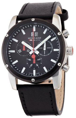 Mondaine - A690.30338.14SBB - Montre Homme - Quartz - Bracelet Cuir Noir