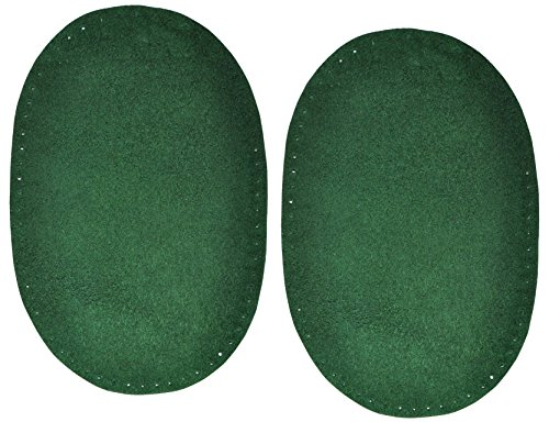 alles-meine.de GmbH 2 Stk. Wildleder - echtes Leder - Flicken - dunkel grün / jägergrün - 10 cm *...