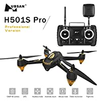 Hubsan H501S x4 Pro 5.8G FPV Quadcopter 10 Plus Channels Headless Mode GPS RTF Drone with 3M Pixels Camera(Advanced Version)