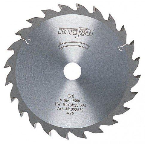 Preisvergleich Produktbild Mafell HM-Sägeblatt 16O x 1,8 x 2O mm 24 Zähne passend zu KSP 55
