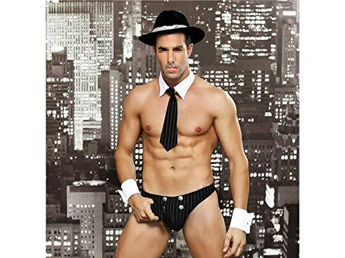 Männer Erotische Unterwäsche Männlich Detektiv Kostüm Cosplay Sexy Uniform Versuchung (Größe : Einheitsgröße)