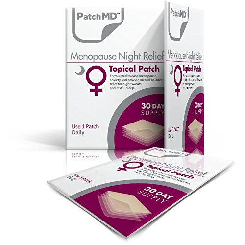 PatchMD Menopause Night Relief™ 30 Daily Topical Patches. 100% Natural & Vegan. Allergy & Filler Free. High Absorption and More bioavailable. Suitable for Sensitive stomachs & bariatric.