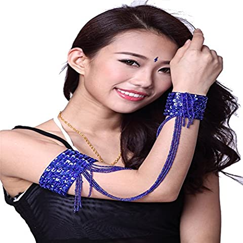Danse du ventre Bracelet Bangle Arm Cuff Bracelet Beaded Jewelry Hands Chain