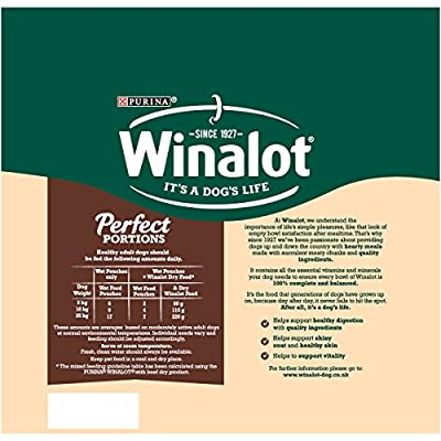 Winalot Wet Dog Food Perfect Portions Mixed In Gravy 24x100g (24 Pouches) by Winalot