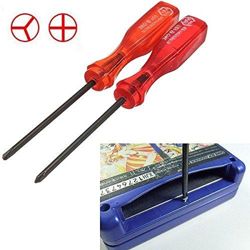funnytoday36510,8cm Tri Flügel und Kreuz Flügel Schraubendreher Repair Tool für Nintendo NDS DS Lite NDSL für Wii Advance Carts ca. - Lite Cart