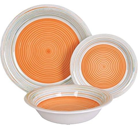 Service Vaisselle 18 Pieces - Borella casalighi tendance Service Assiettes 18Pièces, Porcelaine,
