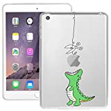 New iPad 2017 (A 1822)9.7 inch iPad Case, Doramifer Funny Series Protective Case [Anti-Slip] [Good Grip]with Aesthetic 3D Print Soft Back Cover for iPad A 1822 (Little Dinosaur)