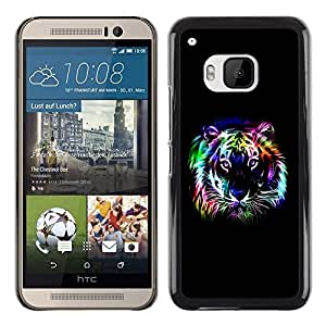 Omega Covers - Snap on Hard Back Case Cover Shell FOR HTC ONE ( M9 ) - Neon Tiger