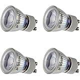 SEBSON LED Lampe GU10 warmweiß 3W, ersetzt 20W Halogenlampe, 35mm Durchmesser, 250lm, Spot 36°, 230V, 4er Pack