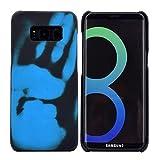 EUDTH Coque Samsung Galaxy S8, Housse Etui de Protection Bumper Changement de Couleur du capteur Thermique Anti Choc Protecteur Cover pour Samsung Galaxy S8 5.8' Noir + Bleu