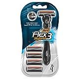 BIC Flex3 Hybrid - Juego de 1 cuchilla de afeitar + 4 hojas de afeitar